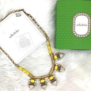 Stella and Dot Yellow Stone Statement Necklace